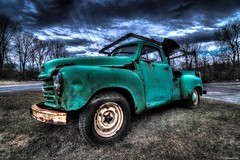 Mint Condition! (a2roland) Tags: road door new old blue trees light green classic ford abandoned glass grass car rain clouds truck vintage lens landscape photography lights drive mirror photo nikon rust automobile paint driving photographer shadows view dynamic angle cloudy farm branches low rustic wheels transport wide nj picture mint pickup super headlights off cargo class grill tires crack tokina chrome photograph forgotten jersey chip handheld dodge range 11mm hdr corrosion flicker norm bulging condition ranging famrer normanzeba2rolandyahoocoma2roland mobiletransportation
