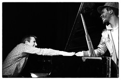 Louis Moholo-Moholo's Five Blokes @ Vortex Jazz Club, London, 16th March 2016 (fabiolug) Tags: leica blackandwhite bw music vortex london monochrome smile smiling zeiss 50mm blackwhite concert hands hand live gig livemusic performance piano jazz rangefinder handshake monochrom johnedwards biancoenero dalston sonnar pianoforte freejazz leicam zeisssonnar 50mmf15 jasonyarde alexanderhawkins fiveblokes louismoholo vortexjazzclub sonnar50mm fourblokes shabakahutchings zeisscsonnar louismoholomoholo zeisszm50mmf15csonnar mmonochrom leicammonochrom leicamonochrom zeisscsonnartf1550mmzm vortexjazz