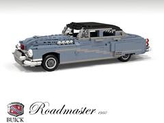 Buick 1950 Roadmaster Saloon (lego911) Tags: auto usa classic car america sedan buick model gm lego general render harley motors chrome 1950s earl saloon luxury 1950 cad povray roadmaster moc ldd miniland foitsop lego911