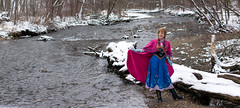 Anna at the Falls -6 (YGKphoto) Tags: park winter anna snow cold minnesota frozen costume cosplay outdoor minneapolis disney minnehaha