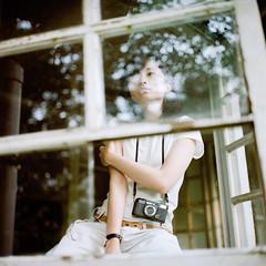 () Tags: light portrait 120 6x6 tlr rolleiflex zeiss zoe square kodak bokeh taiwan carl taipei  portra160  28e