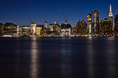Shades of Blue (Lojones13) Tags: blue newyork cityscape nightscape dusk eastriver serene