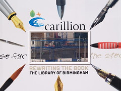 'The story so far' (construction hoardings for the Library of Birmingham) (Steve Hobson) Tags: construction birmingham library hoarding pens carillion