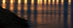 Life's Barcode. (The North West Of Nowhere) Tags: light sea costa man reflection luz home rock stone mar galicia reflejo coastline reflexo pedra hombre roca rocha piedra acorua tensk