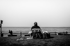 """""""Day Off"""" (rduffy_photo) Tags: ocean california street sky people blackandwhite beach water grass 50mm spring waves candid streetphotography monochromatic coastal danapoint lagunabeach"""