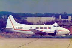 G-APSO DH.104 Dove 5 cn 04505 Biggin Hill 02Apr78 (kerrydavidtaylor) Tags: dehavilland egkb bqh