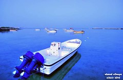 .. Quite sea and small boats (Ahmed Albaqer  ) Tags: morning blue sea boat early bahrain d750 nikoncamera  dair