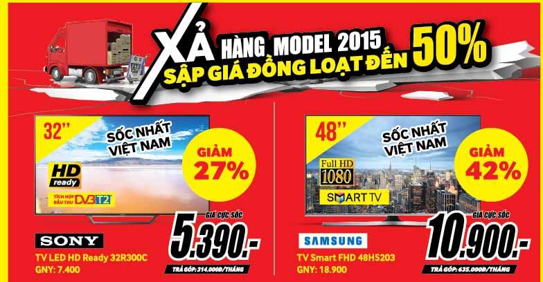Media Mart xả hàng model 2015 – sập giá đồng loạt đến 50%