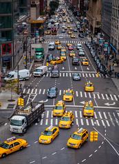 Cabs at Columbus Circle (Westsideguy) Tags: columbuscircle