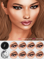 Eyeliners for Fiore (Shakeup!) Tags: makeup secondlife fiore shakeup meshhead applier blackfashionfair