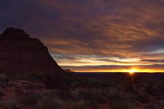 Dawn of a new adventure (Chief Bwana) Tags: morning sunrise dawn utah ut sunburst magichour steamboatrock paria navajosandstone pariaplateau psa104 chiefbwana