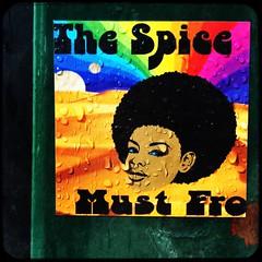 word... (Chris Blakeley) Tags: seattle streetart graffiti sticker stickerart afro wallingford hipstamatic