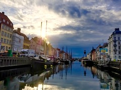 Exploring Nyhavn, Copenhagen, Denmark! (*Winston*) Tags: travel sky sun clouds copenhagen denmark photography nyhavn canal quay iphone photooftheday picoftheday beautifulplaces beautifulpicture placeofinterest mobilephotography inexplore iphoneography