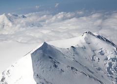 Alaska (nicnac1000) Tags: usa mist mountain snow ice alaska over aerial mount denali mckinley alaskarange highest