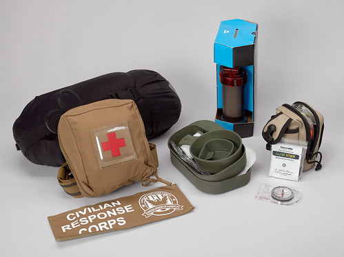 "Selection of items from a Civilian Response Corps ""go bag"""