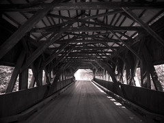 Tunnel vision (CTfoto2013) Tags: road wood bridge light building nature monochrome sepia architecture forest vintage landscape lumix cabin shadows outdoor silhouettes newengland newhampshire whitemountains structure ombre retro panasonic lumiere infrastructure coveredbridge pont paysage foret woodenbridge bois whitemountainsnationalforest kangamangushighway pontdebois gx7 micro43 mirrorlesscamera
