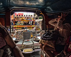 Jeepney from within a Jeepney (FotoGrazio) Tags: people painterly art composition asian photography photoshoot taxi philippines streetphotography streetscene transportation manila vehicle filipino moment photographicart capture pasay hdr highdynamicrange pinoy jeepney socialdocumentary crowded digitalphotography pacificislanders documentaryphotography phototopainting phototoart hdrtoning sandiegophotographer artofphotography flickrelite californiaphotographer internationalphotographers worldphotographer photographersinsandiego fotograzio photographersincalifornia waynegrazio waynesgrazio
