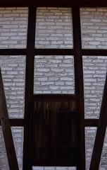 Wall made of Veilsdorf porcelain moulds (:Linda:) Tags: brick barn germany village thuringia shutter veilsdorf halftimbered porcelainmould