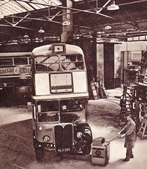 London transport RT443 Aldenham Works 1952. (Ledlon89) Tags: bus london buses transport rt lt londonbus londonbuses vintagebuses lte aecregent rtbus