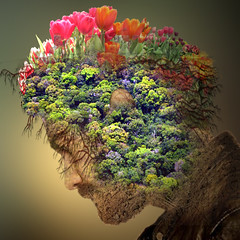 Man's head (jaci XIII) Tags: flowers flores tulips head surrealism fantasy fantasia tulipas cabea surrealismo