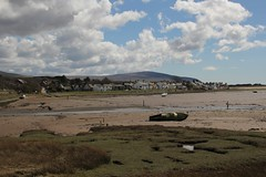 Ravenglass village viewed from Saltcoats across the River Mite on 16th April 2016  (steamdriver12) Tags: england river village cumbria april across 16th mite viewed saltcoats ravenglass 2016