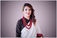 Newari Dress (gurungbijaya88) Tags: nepal girl costume dress culture tradition