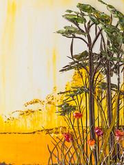 LS18X24-2016-095 (Justin Gaffrey) Tags: trees brown lake art nature yellow gold artist 30a lakescape artcollector coastaldunelake sowal justingaffrey