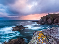 Stoer Stormy Sunrise (Stoates-Findhorn) Tags: sea lighthouse seascape clouds sunrise scotland waves unitedkingdom stormy highland sutherland stoer 2016 raffin stoerhead