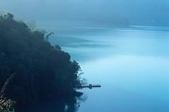 3-1 (EH500) Tags: mountain lake color slr film water sunrise landscape nikon scenery fuji taiwan slide velvia 135 nikkor  fujichrome nikoncoolscan  sunmoonlake angenieux rvp fe2 70210mm  rvp100 angenieux70210mm    fujichromevelvia   angnieux scanbynikon9000ed