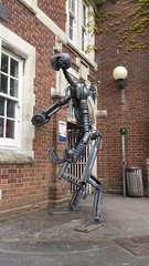 Robot Sculpture. Hannah's at Seale-Hayne. Newton Abbot. (christianiani) Tags: sculpture art coffee robot flickr gallery image artgallery artistic awesome exhibition galaxy brilliant clever newtonabbot hannahs sealehayne