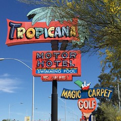 Tucson, Arizona (jericl cat) Tags: arizona classic pool sign swimming vintage golf carpet hotel neon tucson magic mini motor roadside boneyard tropicana