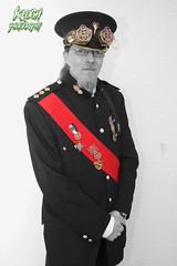 IMG_9121 (Neil Keogh Photography) Tags: red white black male hat beard gold glasses uniform pants buttons military watch gothic goth goggles victorian band jacket medals steampunk whitbygothweekend watchcogs april2016