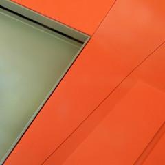 window wedge (msdonnalee) Tags: orange window glass ventana geometry fenster finestra janela minimalism minimalismo fenetre orangewall minimalisme abstractreality