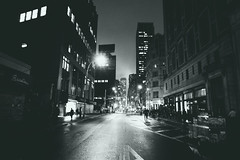 Because the Night (FlavioSarescia) Tags: street city nyc newyorkcity blackandwhite ny newyork architecture manhattan sony streetphotography citylights citybynight