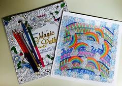 My rainbow coloring project (f l a m i n g o) Tags: book rainbow coloring coloredpencils 19095