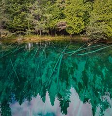 Kitch-iti-kipi, square (jess_clifton) Tags: aqua upperpeninsula clearwater kitchitikipi kitchitikipispring