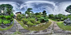 Traditional and proper Japanese garden (lowryitis) Tags: panorama japan tokyo panoramic handheld hdr 360x180 hdri 360° 360°x180° ptgui equirectangular tonemapped hapala enfuse heiwa4126 dynamicphotohdr tachibanataishominkaen 360‹x180‹ 360‹
