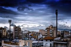 neightborhood watch (Georgios Rentzios) Tags: city sky colour clouds landscape cityscape cloudscape blus
