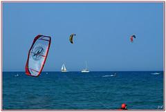 Cote Vermeille (France) - kit surf (nicphor) Tags: ocean mer sport vent voile rivage