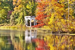 Remember Autumn by the Lake (Lojones13) Tags: autumn lake newyork reflection gazebo yonkers tibbetsbrookpark