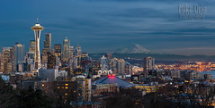 Seattle Blue Hour (mikeSF_) Tags: seattle park city longexposure sunset night landscape washington twilight cityscape mt place pentax market outdoor dusk queenanne pano hill mount civil rainier spaceneedle pugetsound kerrypark bluehour nautical pike puget panor fa77 mikeoria mikeoriaphotography k3ii wwwmikeoriacom