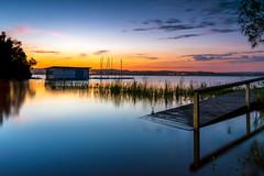Long Jetty Flooded (Darren.Nightingale) Tags: longexposure sunset lake water boats scenery long exposure flood jetty australia nsw centralcoast flooded longjetty