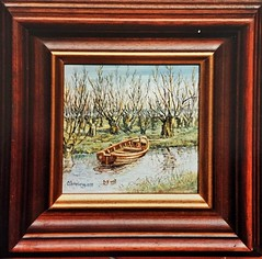 IMG_0921 (3) (Kopie) (Rhoon in beeld) Tags: schilder boot klein schilderij adriaan wilg rhoon grienden knotwilg veerweg albrandswaard profijt voorberg