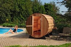 sauna jardín con piscina venta