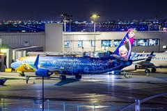 "Westjet Boeing 737-800 C-GWSV ""Frozen"" (Patcard) Tags: world anna night airplane olaf frozen princess montreal aircraft disney boeing westjet elsa ws trudeau 737800 cyul aroportsdemontral cgwsv admtl"