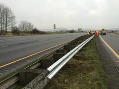 Northbound I-5 Burlington guardrail repair (WSDOT) Tags: road burlington i5 maintenance warrior guardrail mountvernon interstate5 skagitcounty workzone wsdot workzonesafety maintenancecrews