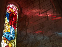 Coloured Light (Aidan McRae Thomson) Tags: church window stainedglass cumbria priory preraphaelite lanercost burnejones