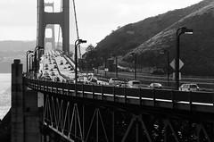 Golden Gate Bridge (dalecruse) Tags: goldengatebridge goldengate bridge sanfrancisco california outdoors outdoor traffic blackandwhite black white lightroom sf winter outside golden bridges downtown