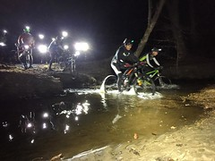 Sketchy creek crossings!  #thursdaynightlights #weavercycleworks #custombicycle #steelisreal