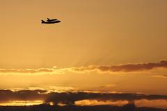 Final flight. (Jill Bazeley) Tags: county sunrise island coast force florida space air flight patrick nasa final shuttle boeing discovery base 747 merritt brevard